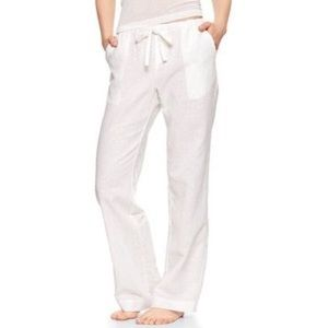 GAP Linen wide straight leg mid rise pants 6.  051